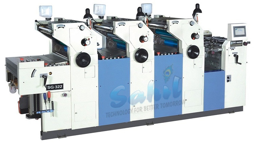 Three 3 Colour Non Woven Bag Printing Machine